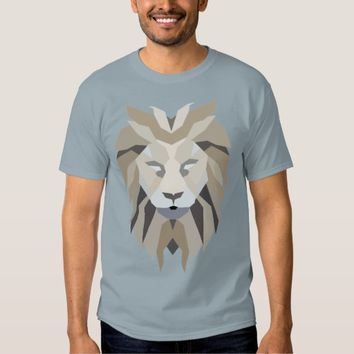 Geometric Abstract Lion Graphic T Shirt
