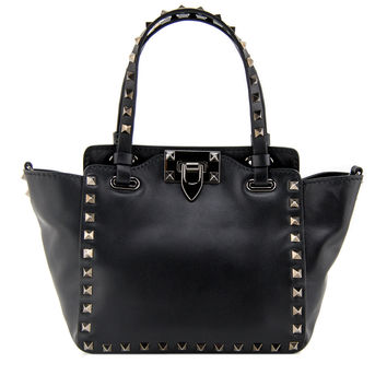 Valentino Black Rockstud Mini Tote Bag