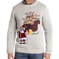 Alex Stevens Men's Santa's Break Time Ugly Christmas Sweater
