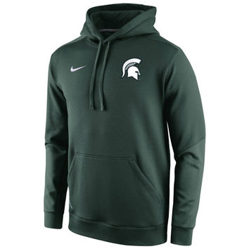 Michigan State Spartans Nike 2014 Sideline KO Chain Fleece Therma-FIT Hoodie – Green
