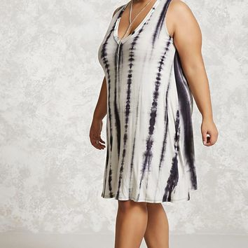 Plus Size Tie-Dye Midi Dress