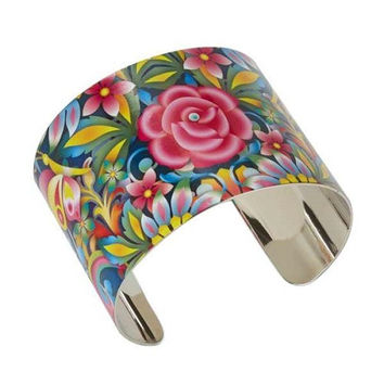 Hallmark Blue Rose Cuff Bracelet - Catalina Estrada Collection