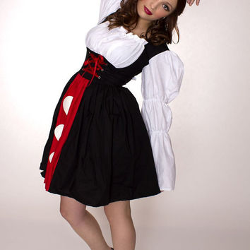 Queen of Hearts Dress Alice in Wonderland Costume