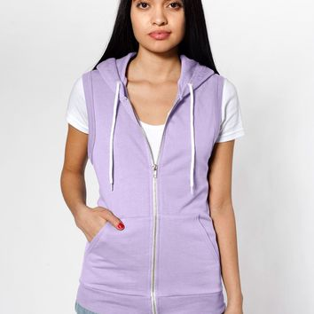 5496w - Unisex California Fleece Sleeveless Zip Hoodie