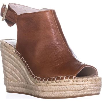 Kenneth Cole Olivia Espadrille Mule Sandals, Medium Brown, 8.5 US / 39.5 EU