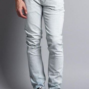 Premium Denim Skinny Fit Jeans (Bleach Blue)