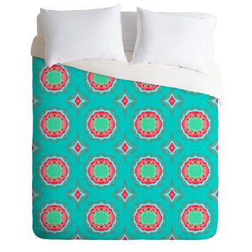 Elisabeth Fredriksson Strawberry Field Flowers Duvet Cover