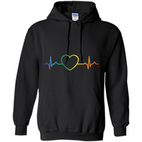 Rainbow Heartbeat LGBT T-Shirt