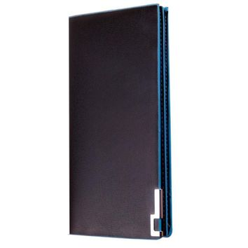 New Men Long Male Thin Flip Leather Wallet