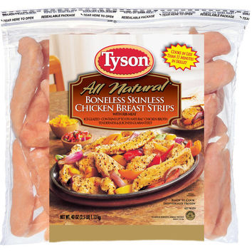 Tyson: Iqf Boneless Skinless Chicken Breast Tenderloins, 48 Oz - Walmart.com