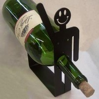 Happy Guy Wine Holder Rack by KnobCreekMetalArts on Etsy