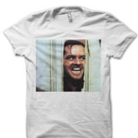 JACK NICHOLSON THE SHINING T-SHIRT CLASSIC MOVIES SHIRTS BIRTHDAY GIFTS CHEAP SHIRTS TREND FASHIONS CELEBRITY SHIRTS GRAPHIC TEES CHEAP SHIRTS