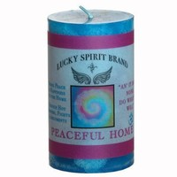 Peaceful Home Spell Candle 2x3 Pillar by purplesuncandles on Etsy