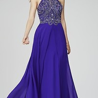 High Neck Beaded Top Jovani Prom Dress