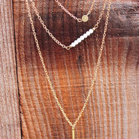 Hope Gold Layering Chain Necklace