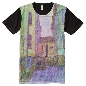 The Old prison drawing All-Over-Print T-Shirt