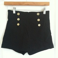 High-waisted Shorts (Black) from Belle La Vie Boutique