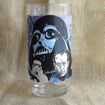 Vintage Star Wars Darth Vader Drinking Glass // 1977 Coca Cola Burger King collectors glass