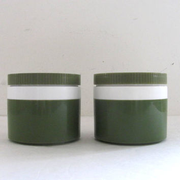 Vintage Thermos Food Jars - Avocado Green - for your Lunch Box