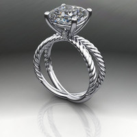 AMORA Gem Ultra H&A Cushion Cut Engagement Ring 4.33 CTW