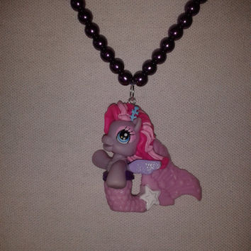 Starsong mermaid  - My Little Pony purple toy Necklace MLP