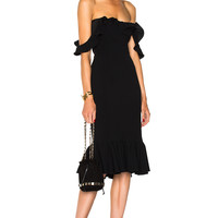 Cinq a Sept Opalina Dress in Black | FWRD