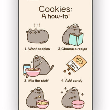 Pusheen cat cookies for iPhone 4/4S Case *