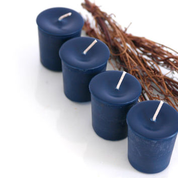 Acqua di Gio Scented Soy Votives // Navy Blue Color Candles // Manly Candles // 4 per Pack // Made with Soy// Handpoured in Brooklyn