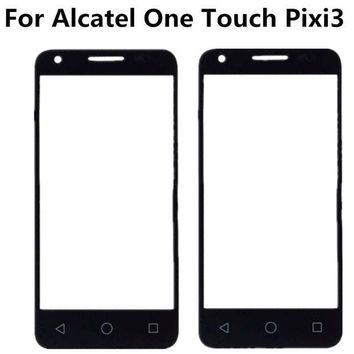 DCCKL72 Black For Alcatel One Touch Pixi 3 4.5 4027D 4027X 4027 A5017 5017E VF795 Front Outer Glass Lens Repair Touch Screen Outer Glass