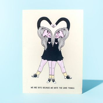 BFFS Greeting Card