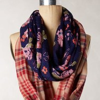 Pattern Play Infinity Scarf by Anthropologie Navy One Size Scarves