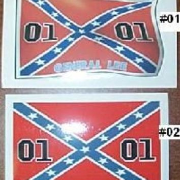 Dukes of Hazzard Rebel Flag General Lee Sticker