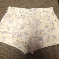 Forever 21 floral high waisted shorts