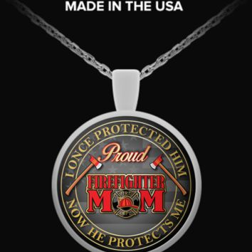 Proud Firefighter Mom: Necklace proud-firefighter-mom
