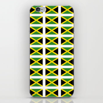 Flag of Jamaica 2-Jamaican,Bob Marley,Reggae,rastafari,cannabis,ganja,america,south america,ragga iPhone & iPod Skin by oldking