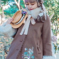Surface Spell -I Don't Want To Be Anne of Green Gables- Vintage Classic Embroidery A-line Shaped Lolita Winter Coat