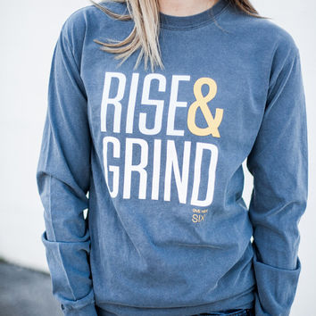 Rise And Grind Memphis Grizzlies Long Sleeve Comfort Colors