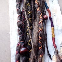 Custom Dreads Hair Wraps & Beads Bohemian Hippie by lcerrito4