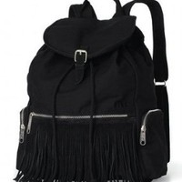 Limited Edition Victoria's Secret Pink Black Fringe 2013 Backpack:Amazon:Everything Else