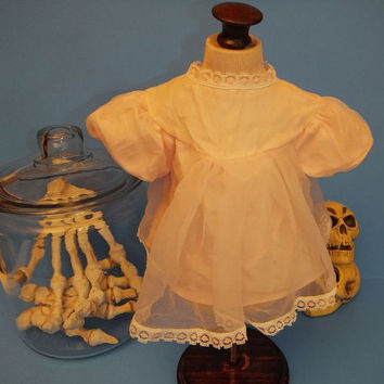 Vintage 60s Doll Dress Baby Pattaburp Mattel Pink Lace Made in Japan Mid Century