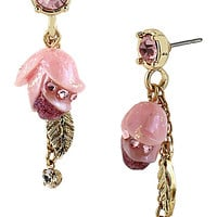 BetseyJohnson.com - FAIRYLAND TULIP DROP EARRING PINK