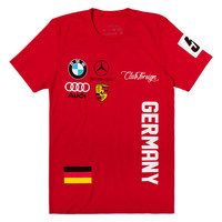 Club Foreign T-Shirt Germany Series in Red