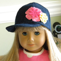 18 inch Doll Clothes  fits American Girl  Denim Hat
