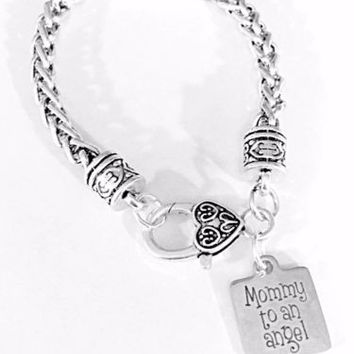 Mommy To An Angel Mother's Day Gift Child Loss Miscarriage Charm Bracelet