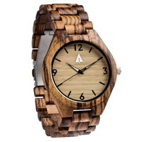 All Wood Watch // All Zebrawood Nova