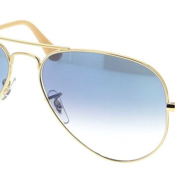 Sunglasses Ray-Ban RB3025 AVIATOR 001/3F GOLD/GLASS BLUE GRADIENT Cal.58