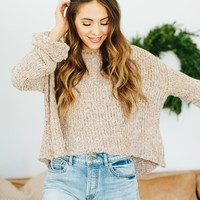 Chic In Chenille Taupe Sweater - Luca + Grae