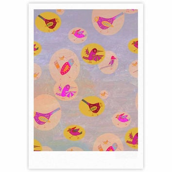 """Marianna Tankelevich """"Birds Paradise"""" Pink Abstract Fine Art Gallery Print"""