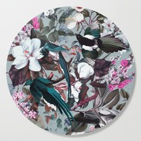Floral and Birds XXIV Cutting Board by burcukorkmazyurek