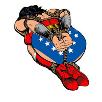 Bound Up Wonder Woman Sticker